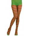 Kerstelf panty rood met groen